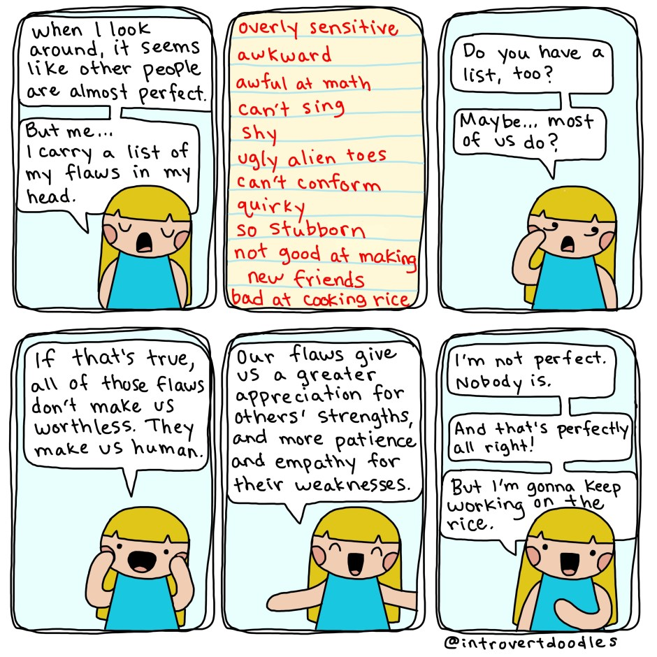 marzi, introvert doodles comic: being human