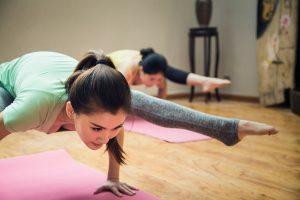balancing pose yoga girl